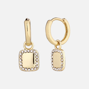 North North North 14k goldplated huggie hoop goldearrings | Susanne-Kirsten Earring Gold