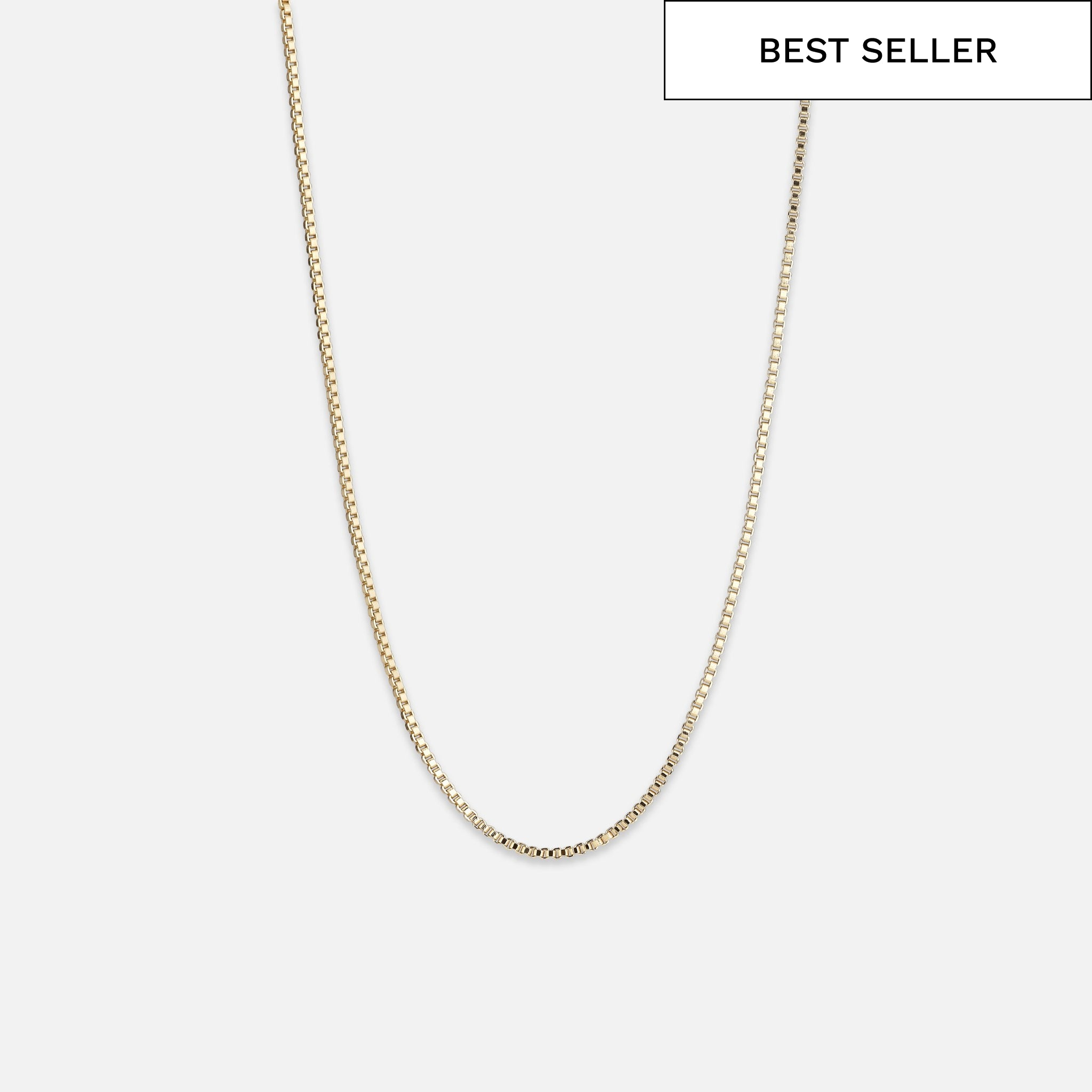 North North North Gold Necklace | Terkel | Box Chain Necklace Gold
