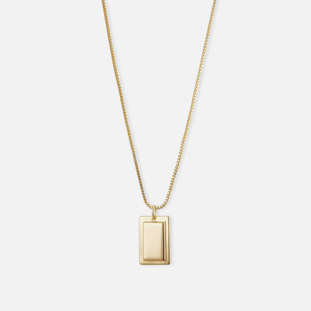 North North North Gold Necklace | Tove | Box Chain Necklace Gold