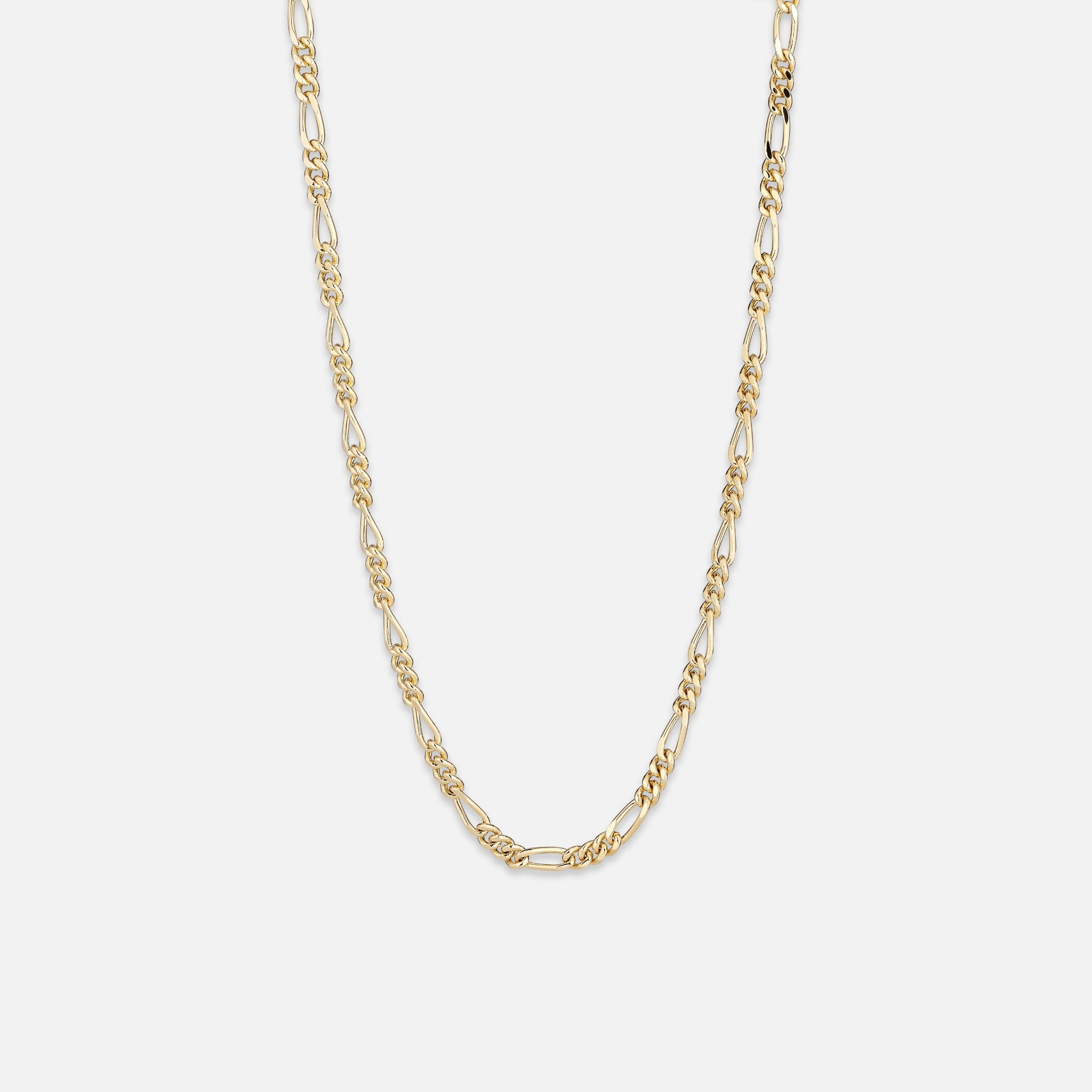 North North North Gold Necklace | Wolfgang | Figaro Chain Necklace Gold