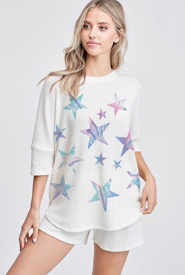 TIE DYE STAR LOUNGE SET