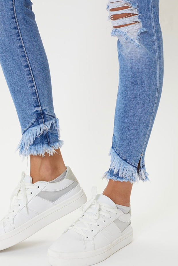 SKINNY JEANS WITH ANKLE DETAIL