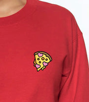 HEART PIZZA CREWNECK SWEATSHIRT