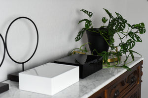 Modern + Contemporary Lacquer Organizer With Lid