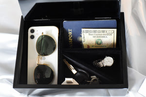 Holds Phone, Wallet, Keys, and Jewelry. Storage Box to Organize Your Essentials. Hidden Storage. Organize Your Home.