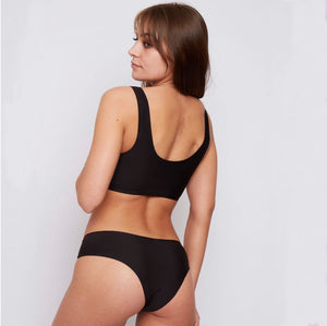 Blush and black 2 pack of super soft and breathable briefs - your go to eco underwear for only £13!