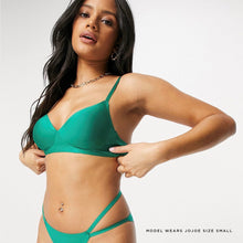 Load image into Gallery viewer, Forest green super comfy padded bra with double straps