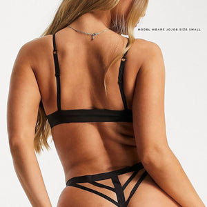 High cut design, this caged back black thong is a super comfy must have in your underwear drawer, for only £8