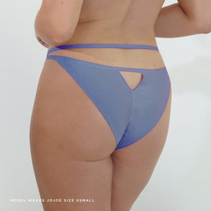 Made from reycled fabrics and bonded seams, this brief in stone wash blue colourway is breathable and benefits from no VPL