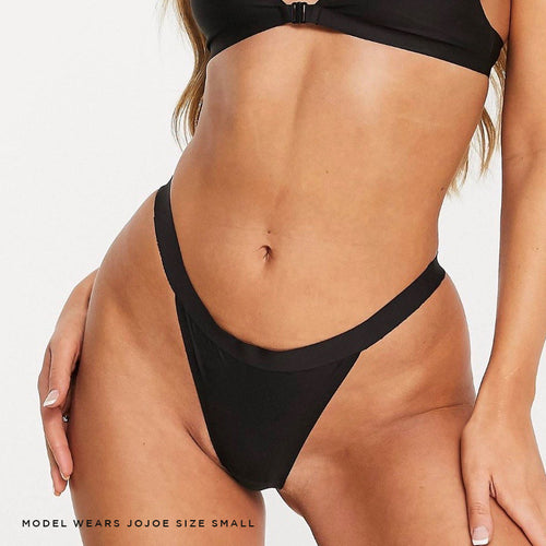 Black caged thong - super comfy and breathable, made with bonded seams and laser cut for smooth lines