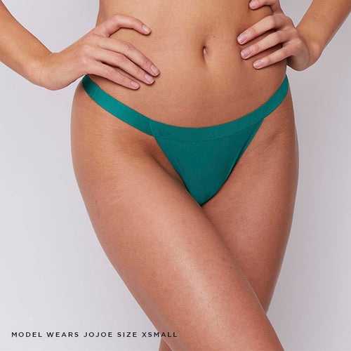 Forest green colourway, this caged thong is made from super soft recycled fabric materials and bonded seams to maximise comfort and reduce wastage.