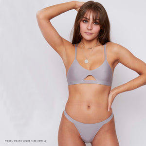 JJ6: Thong in Grey