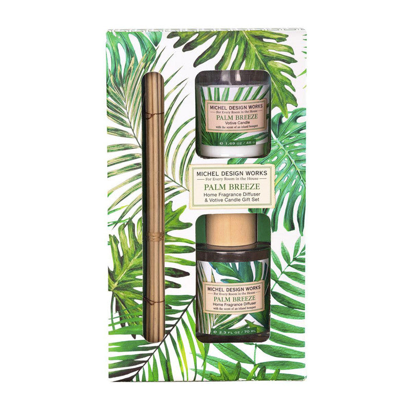 SET DIFUSOR Y VELA PALM BREEZE