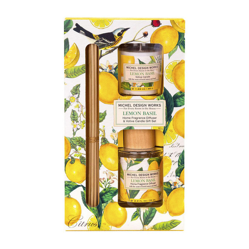 SET DIFUSOR Y VELA LEMON BASIL