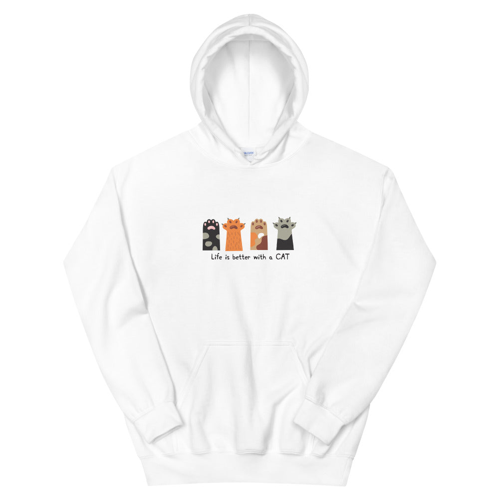 4 Paws of the Cat Unisex Hoodie