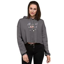 Load image into Gallery viewer, All you Need is Love a Dog Crop Hoodie