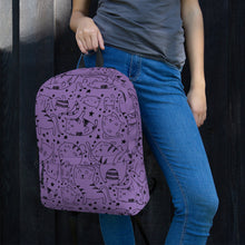 Load image into Gallery viewer, Love Cat Purple Backpack