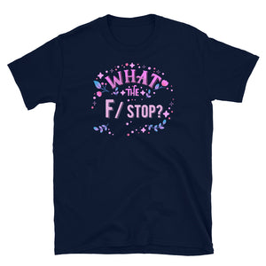 What the F/ stop? -  T-shirt met korte mouwen, unisex
