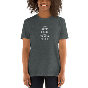 Keep Calm and take a Selfie - T-shirt met korte mouwen, dames