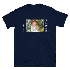 Video viewfinder met gepersonaliseerd video shot - T-shirt met korte mouwen, unisex
