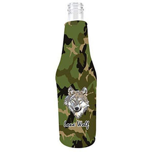 Lone Wolf Beer Bottle Coolie