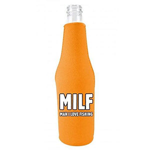 MILF, Man I Love Fishing Beer Bottle Coolie