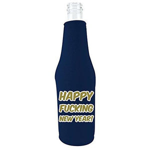 Merry Fucking Christmas and Happy Fucking New Year Beer Bottle Coolie Set