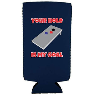 Your Hole Is My Goal Slim 12 oz Can Coolie