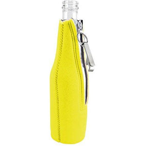 Camping Is In Tents Beer Bottle Coolie With Opener