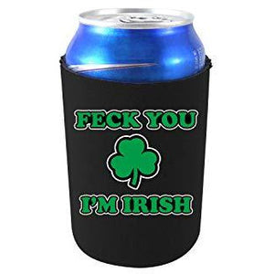 can koozie with feck you im irish design