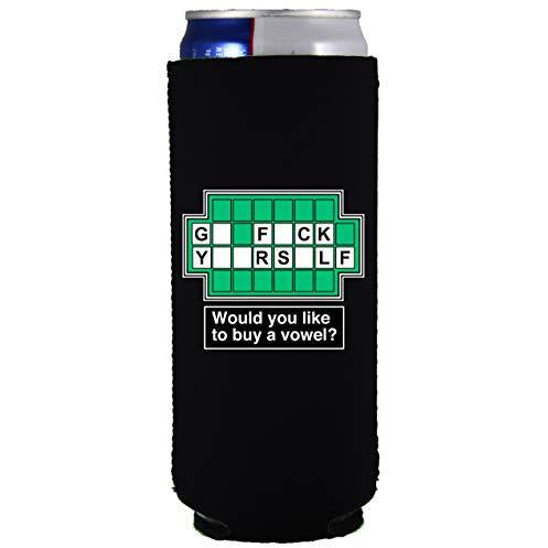 slim can koozie with go f yourself design