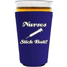 Load image into Gallery viewer, Nurses Stick Butt! Pint Glass Coolie