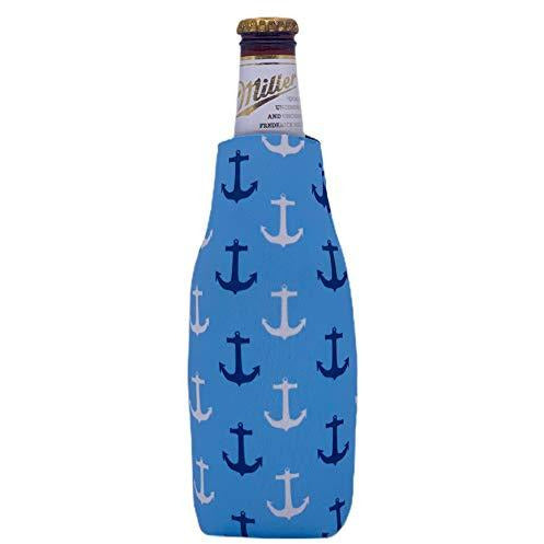 Anchor Nautical Pattern Beer Bottle Coolie