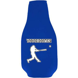 Touchdown Baseball Beer Bottle Coolie With Opener