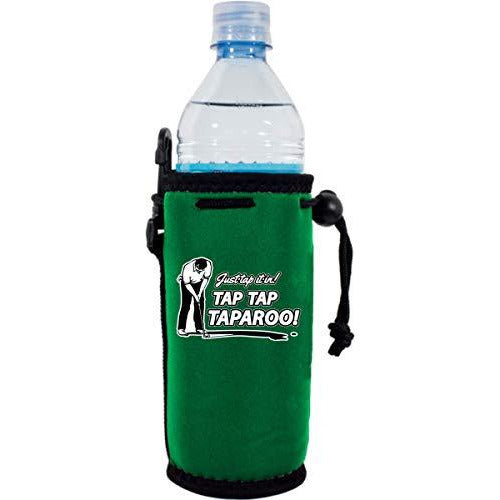 green water bottle koozie with funny