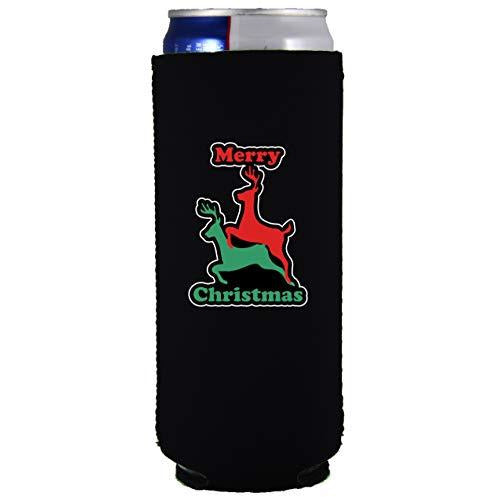 slim can koozie design Reindeer Humping design