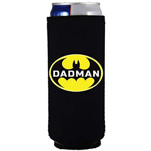 slim can koozie with dadman design batman