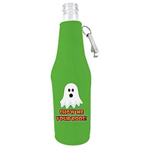 Show Me Your Boos! Halloween Bottle Coolie with Opener