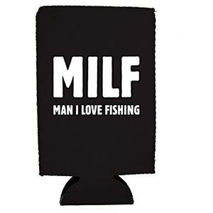 MILF Man I Love Fishing 16 oz. Can Coolie