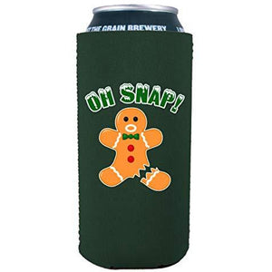 Oh Snap! Gingerbread Man 16 oz. Can Coolie