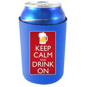 Keep Calm Drink On Can Coolie