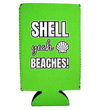 Load image into Gallery viewer, Shell Yeah Beaches 16 oz. Can Coolie