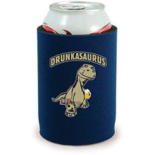 Load image into Gallery viewer, full bottom can koozie with drunkasaurus design