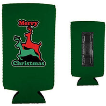 Load image into Gallery viewer, Merry Christmas Reindeer Humping Magnetic Slim Can Coolie