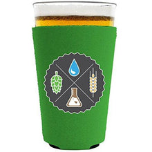 Load image into Gallery viewer, Beer Ingredients Pint Glass Coolie