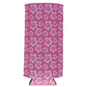 Hibiscus Pattern Slim Can Coolie