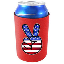 Load image into Gallery viewer, America Peace Sign Can Coolie
