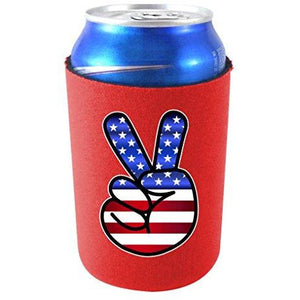 America Peace Sign Can Coolie
