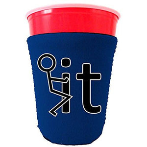 Fck It Funny Party Cup Coolie