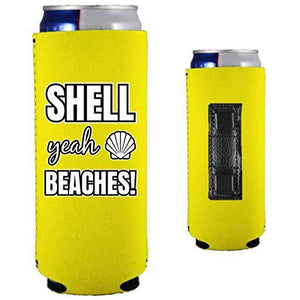 Shell Yeah Beaches Magnetic Slim Can Coolie